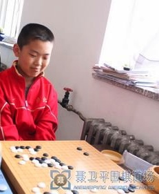 Runner-up Xu Jiayang at the Nie Weiping Weiqi Daochang (copyright nwpwq.com)