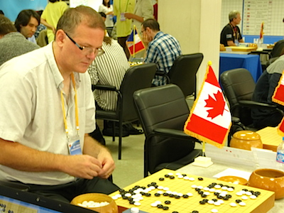 James Sedgwick (Canada) playing in round one